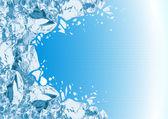 Rompiendo el hielo — Vector de stock
