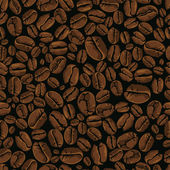 Coffee vector seamless — Vettoriale Stock