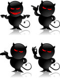 Devil toy gestures — Stock Vector