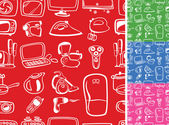Home appliances symbols seamless — Stock Vector