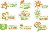 Blommig logotyper — Stockvektor