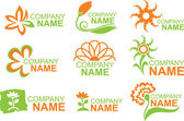 Logotipos florales — Vector de stock