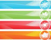 Bannière de quatre-saisons — Vecteur