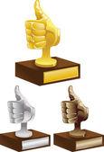 золото серебро бронзовую награду — Cтоковый вектор