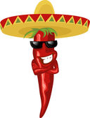 Mexican hot chili — Vector de stock