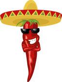 Mexikanische hot chili — Stockvektor