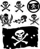 Piracy signs — Stock Vector