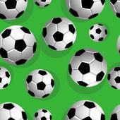 Soccer balls seamless — Stock Vector