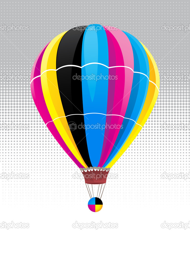 Balloon in CMYK  colors  Stock Vector #1731171