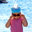 Little girl at the sea — Stock Photo #1647425