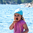 Little girl at the sea — Stock Photo #1647455