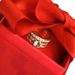 Gift box with ring — Stock Photo