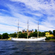 Old yacht in Stockholm — Stock Photo