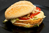 Chicken burger — Stock Photo