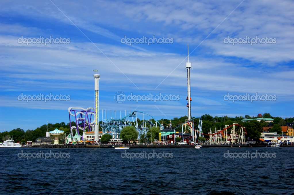 Amusement park in Stockholm on sunny summer day — Stock Photo #1647890