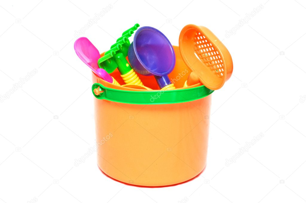 Children sand box toys — Stock Photo #1648270