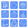 Royalty-Free Stock Imagen vectorial: Baby shop icons 1