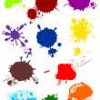 Stock Vector: Various colorful blots