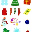 Christmas collection — Stock Vector #1660240