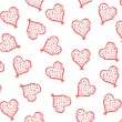 Floral hearts background — Imagen vectorial