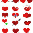 Set hearts — Stock Vector