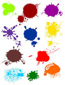 Various colorful blots — Stock Vector