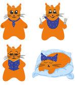 Cat character, comics series — Stock Vector