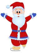 Santa claus skridskor — Stockvektor