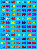Funny multicolored fishes — Stock Vector
