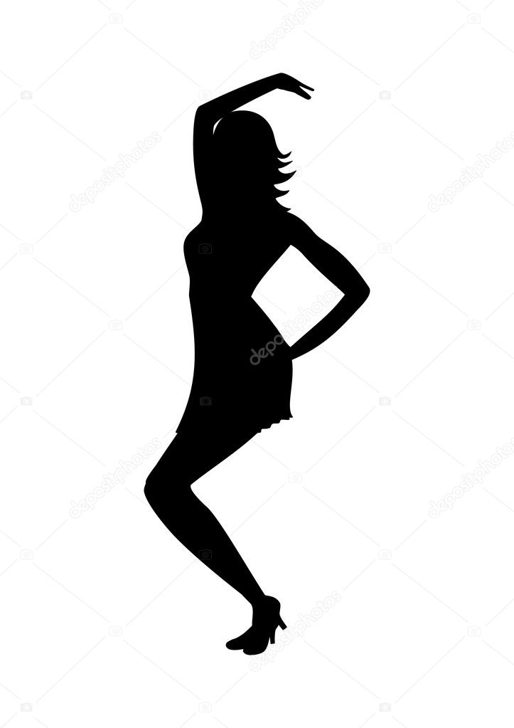 Dancing woman silhouette stock vector 169 irzikot 1660913