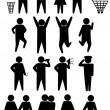 thumbnail of Schematic icons set people