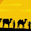 Caravan of camels — Stock Vector #2098577