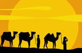 Caravan of camels — Stock Vector