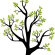 Spring tree — Vector de stock