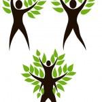 uppsättning av mänskliga träd — Stockvektor  #2467444