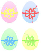 Set of Easter Eggs in pastel color — Stock Vector