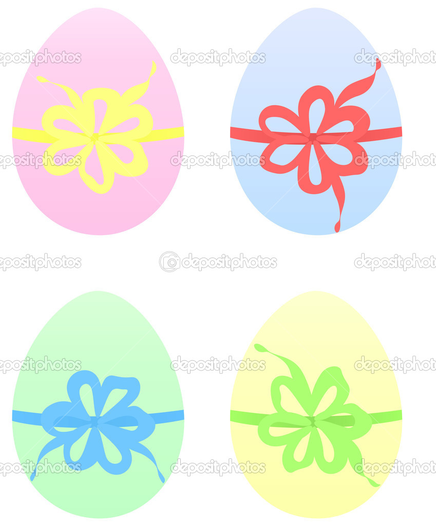 images of easter eggs to colour. Set of Easter Eggs in pastel