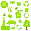 Set ECO and BIO componentry - Stock Vector