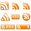 Royalty-Free Stock Vector Image: Set of RSS Buttons