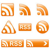 Set of RSS Buttons — Stok Vektör
