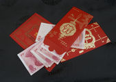 Red chinese money envelope — 图库照片