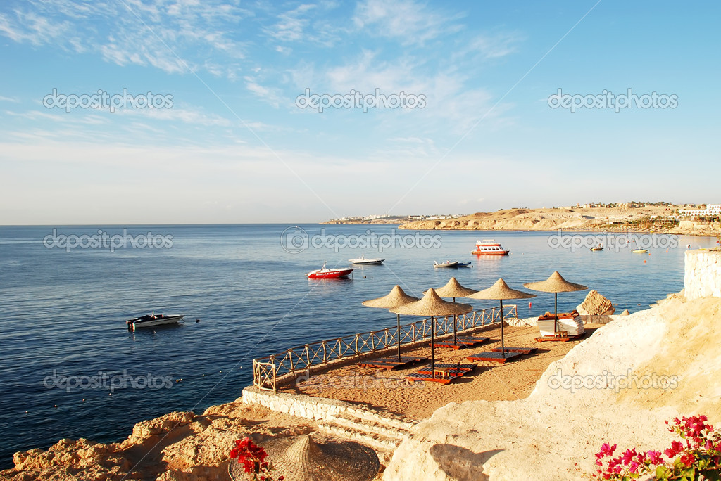 The Red Sea coast in the early morning, Egypt, Sharm al-sheikh — Stock Photo #1894438