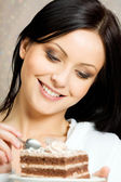 Portrait of young happy smiling woman — Stock Photo