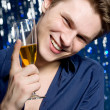 Man with glass of champagne — Stock Photo #1795226