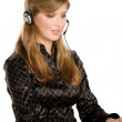 Business customer support operator woman — Stock Photo