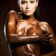 Chocoate woman - Foto Stock