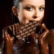 Stock Photo: Chocoate woman