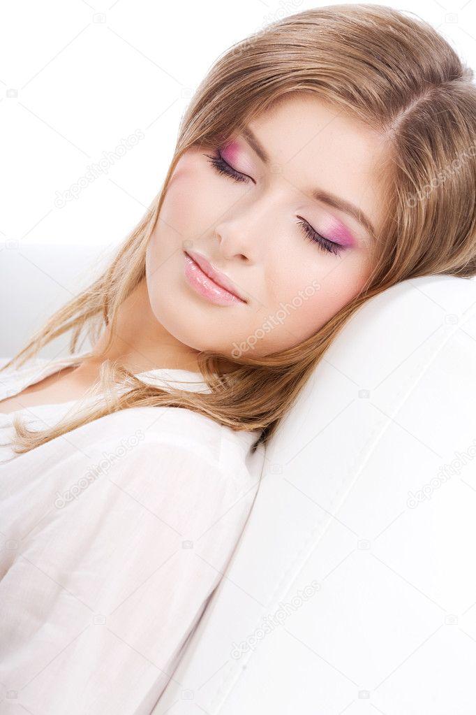 Foto van slapende tiener meisje stockfoto 2037577 - Tiener meisje foto ...