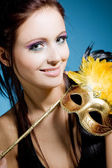 Woman with carnival mask — Stock Photo