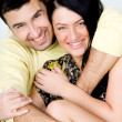 Stock Photo: POrtrait of happy couple at home